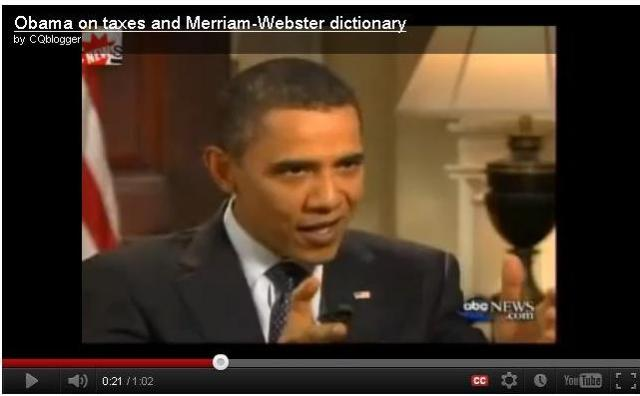 """Obama dice que el diccionario """"estira"""" la verdad. (Video)"""