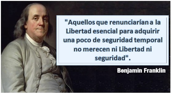 Benjamin Franklin-Libertad-Seguridad