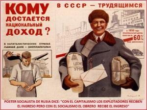 POSTER SOCIALISTA EN RUSIA