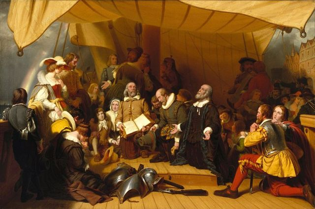800px-Brooklyn_Museum_-_Embarkation_of_the_Pilgrims_-_Robert_Walter_Weir_-_overall